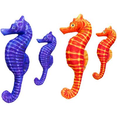 Gaby plyšový polštář Mořský koník oranžový 60cm