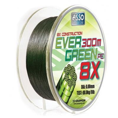 Asso Šňůra Evergreen 8-Braid 130m - 0,20mm