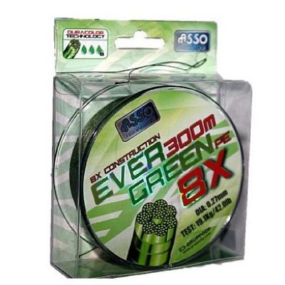 Asso Šňůra Evergreen 8-Braid 130m - 0,15mm